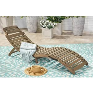 Christopher Knight Home Lahaina Acacia Wood Outdoor Chaise Lounge for $117