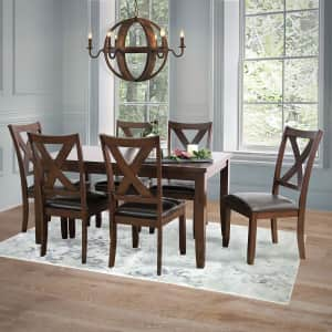 Abbyson Living Edgewater 7-Piece Dining Set for $499 for members