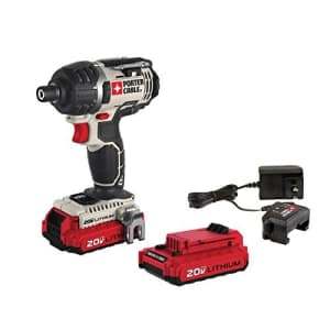 PORTER-CABLE 20V MAX Cordless Impact Driver Kit, 1/4-Inch, Tool Only (PCCK640LB) for $125