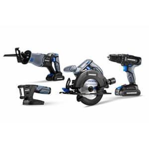 Hammerhead 20V Cordless 4-Tool Combo Kit: Drill, Reciprocating Saw, Circular Saw and LED Light with for $127