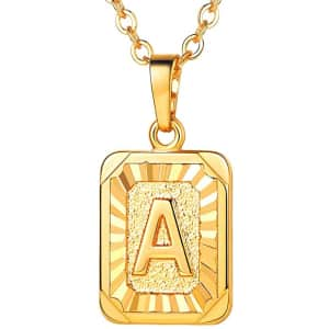 U7 Monogram Necklace for $10