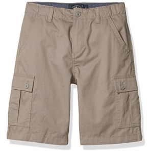 Lucky Brand Boys' Solid Shorts, Steeple Gray Cargo, 8 for $19