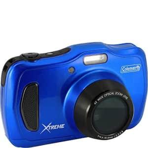 "Coleman 20.0 Mega Pixels Waterproof HD Digital Camera with 4X Optical Zoom & 3"" LCD Screen, Blue for $114"