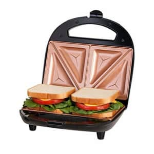 Gotham Steel Sandwich Maker, Toaster and Electric Panini Grill with Ultra Nonstick Copper Surface - for $20