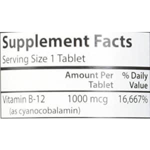Carlson Labs B-12-SL, 1000mcg, 180 Chewable Tablets for $17