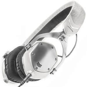 V-MODA XS On-Ear Folding Design Noise-Isolating Metal Headphone (White Silver) for $180