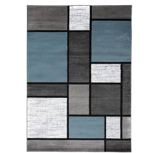 Rugshop Contemporary Modern Boxes 5x7-Foot Area Rug for $59