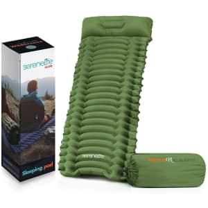 SereneLife Lightweight Air Mattress Sleeping Pad for $40