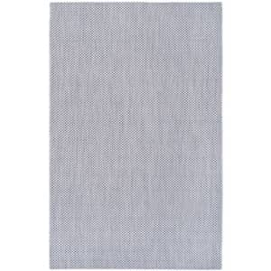 """Safavieh Courtyard Collection CY8521-36812 Grey and Navy Indoor/ Outdoor Area Rug (2'7"""" x 5') for $37"""