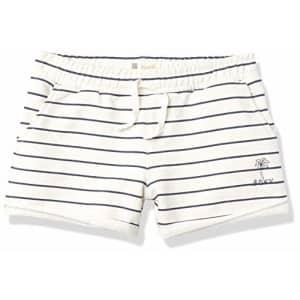 Roxy Girls' Bahia Playa Fleece Shorts, Snow White Kuta Stripes, 4 for $29