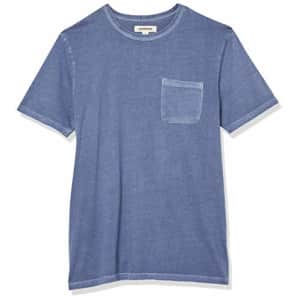 Amazon Brand - Goodthreads Men's Heritage Wash Short-Sleeve Crewneck T-Shirt with Pocket, Denim for $16