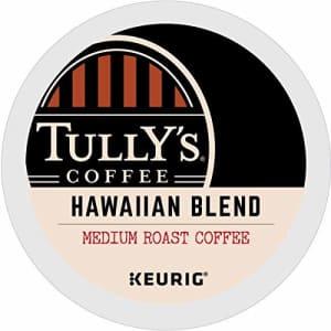 Tully's Coffee Hawaiian Blend, Medium Roast, Keurig Single-Serve K-Cup Coffee Pods, 72 Count for $45