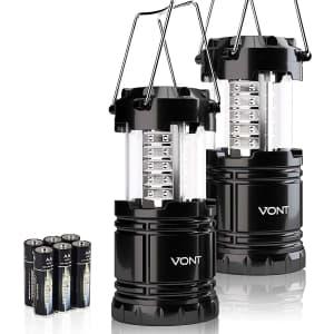 Vont LED Camping Lantern 2-Pack for $18