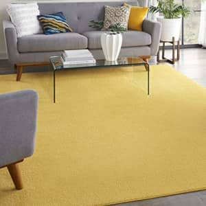 Nourison Essentials Solid Contemporary Yellow 8' X 10' Area Rug, 8' X 10' for $42