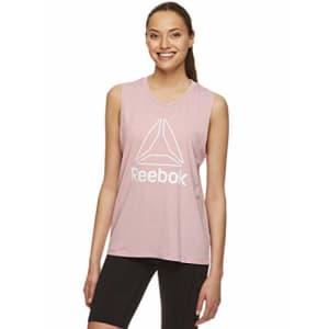 Reebok Women's Muscle Tank Top - Ladies Moisture Wicking Activewear & Workout Shirt - Zephyr Prime for $20