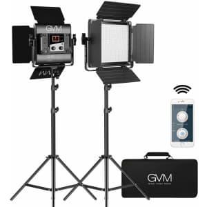 GVM Great Video Maker Bi-Color LED Camera Light Kit 2-Pack with App Control for $271