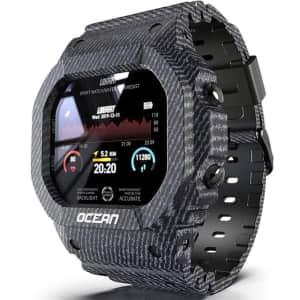 Lokmat Ocean Fitness Smartwatch for $19