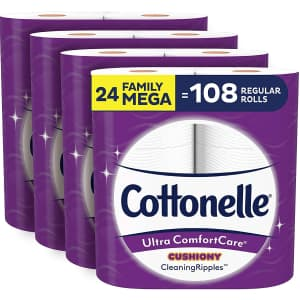 Cottonelle Ultra ComfortCare Soft Toilet Paper 24-Pack for $25