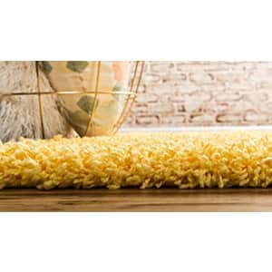 Unique Loom Solo Solid Shag Collection Area Modern Plush Rug Lush & Soft, 2' 2 x 6' 0 Runner, for $29
