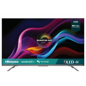 "Hisense U7G Series 55U7G 55"" 4K HDR ULED UHD Android Smart TV (2021) for $700 at checkout"