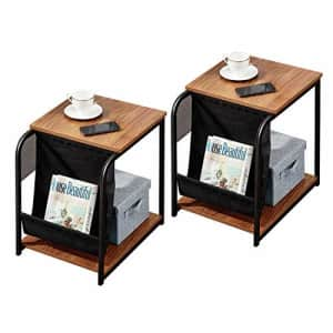 VECELO Modern Nightstand Set of 2 Side End Table with Magazine Holder Sling Stackable Accent for $64