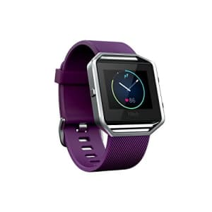 Fitbit Blaze Smart Fitness Watch, Plum, Large (Refurbished) for $299