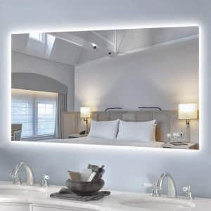 Keonjinn Backlit Bathroom Wall Mirror for $190