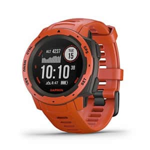 Garmin Instinct, Rugged Outdoor Watch with GPS, Features GLONASS and Galileo, Heart Rate Monitoring for $350