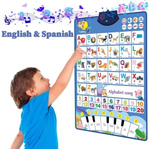 eTel Like Bilingual Electronic Interactive Alphabet Wall Chart for $11