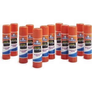 Elmer's Disappearing Purple Glue Sticks 12-Count for $3