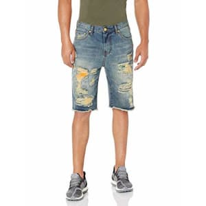 LRG Lifted Research Group Men's Denim Shorts, Indigo, 30 for $61