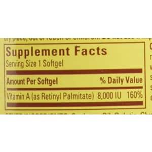 Nature Made Vitamin A, 8000 IU, 100 Liquid Softgels for $9