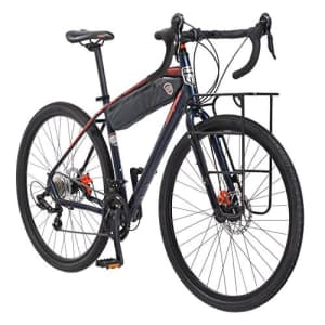 Mongoose Men's Elroy Adventure Bike 700C Wheel Bicycle, Blue, 54cm frame size for $630