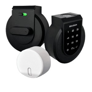 Securam Touch Smart Keyless Lock Deadbolt & Hub Bundle for $220