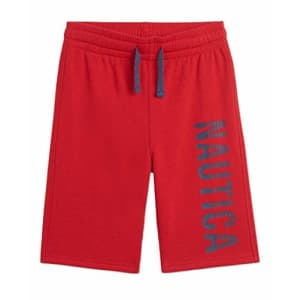 Nautica Boys' Knit Drawstring Shorts, Racer Red, Small (4) for $15