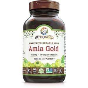 NutriGold Amla Gold Veggie Capsules Amalaki Indian Gooseberry, 500 mg, 90 Count for $20