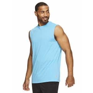 HEAD Men's Hypertek Mesh Gym Training & Workout Muscle Tank - Sleeveless Activewear Top - Cyan Blue for $35