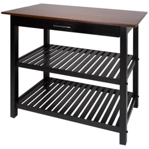 Casual Home American Trails Sunrise Solid Wood Kitchen Island w/ Hardwood Top for $119