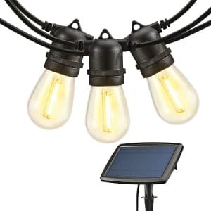Venusop 48-Foot Solar LED String Lights for $33