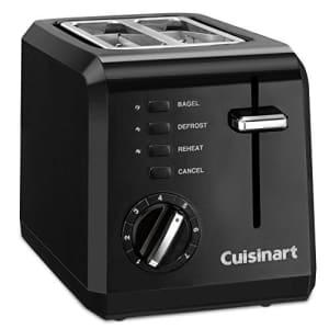 Cuisinart CPT-122BK 2-Slice Compact Plastic Toaster, Black for $42