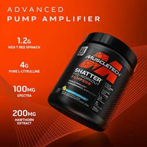 Pre Workout Powder + Nitric Oxide Booster | MuscleTech Shatter Pumped 8 | Non-Stimulant Preworkout for $35