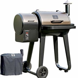 Z GRILLS Upgrade Wood Pellet Grills Smoker with Newest 8- in -1 Digital Controls Outdoor BBQ Smoke for $439