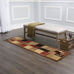 """Home Dynamix Catalina Pierre Contemporary Modern Runner Rug 1'9""""x6'9"""" Geometric Brown Red Beige for $22"""