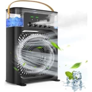 AstryCA Portable Evaporative Air Cooler Fan for $46