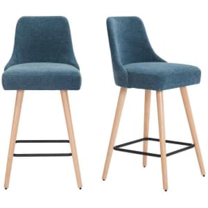 StyleWell Benfield Upholstered Bar Stool 2-Pack for $179