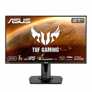 ASUS TUF Gaming VG279QM 27 HDR Monitor, 1080P Full HD (1920 x 1080) Fast IPS, 280Hz, G-SYNC for $329