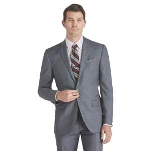 Jos. A. Bank Men's Traveler Collection Slim Fit Sharkskin Suit Jacket for $30