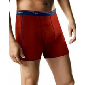 Hanes Men's Sport Boxer Brief w/ Comfort Flex Waistband 5-Pack for $9