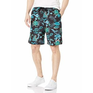 LRG Men's Spring 2021 Shorts-Woven Shirts, Black/Blue, Small for $27