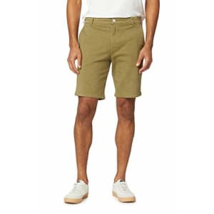 HUDSON Jeans Men's Chino Shorts, Olive Green, 29 for $31